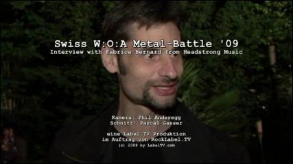 Swiss Metal-Battle '09 - Interview with Fabrice Bernard
